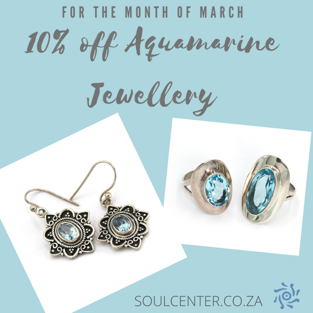 March Soul Special Offer on Aquamarine that can help us build more COURAGE!