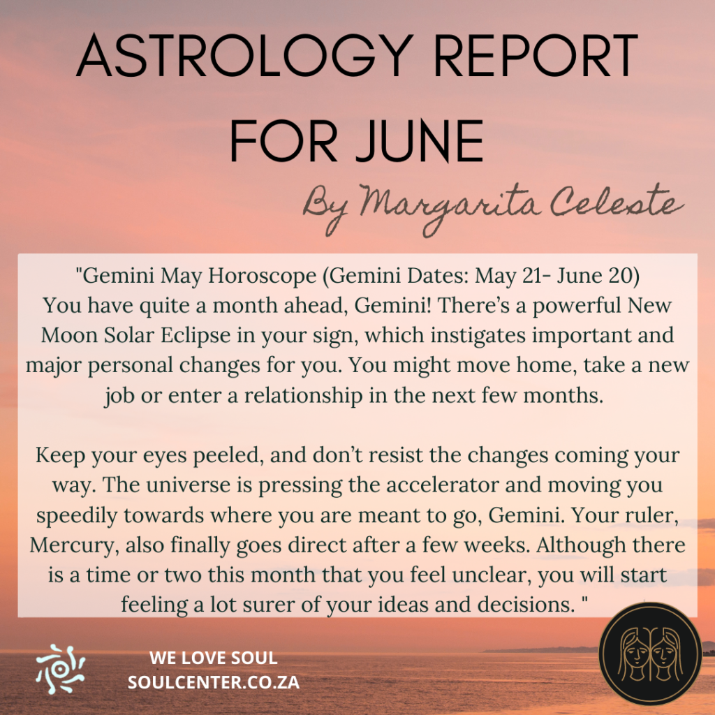 Astrology Report for June 2021 | soulcenter.co.za