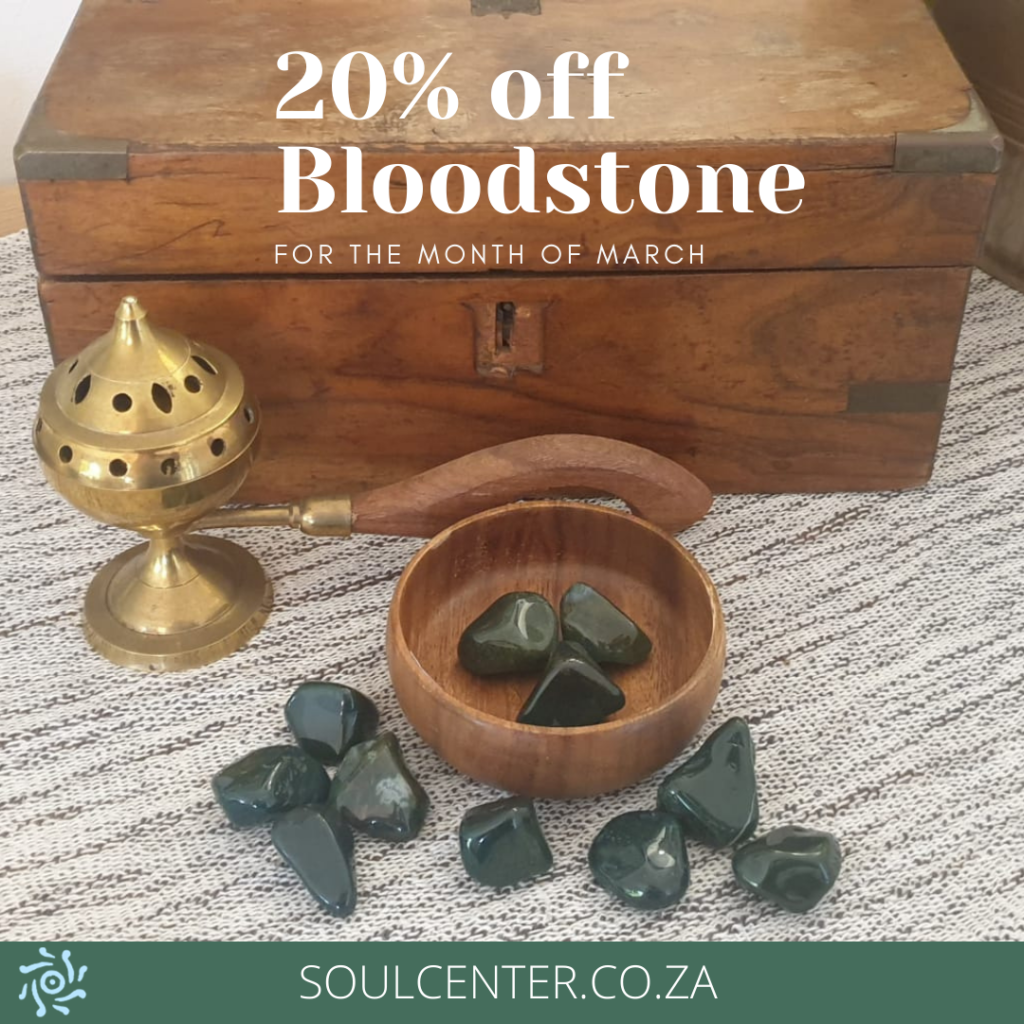 Bloodstone is a healing crystal with purifying, protective and grounding properties - 20% off Bloodstone for the month of March