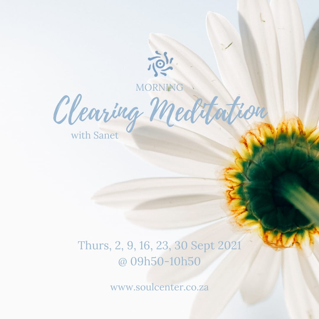 Morning clearing Meditation poster