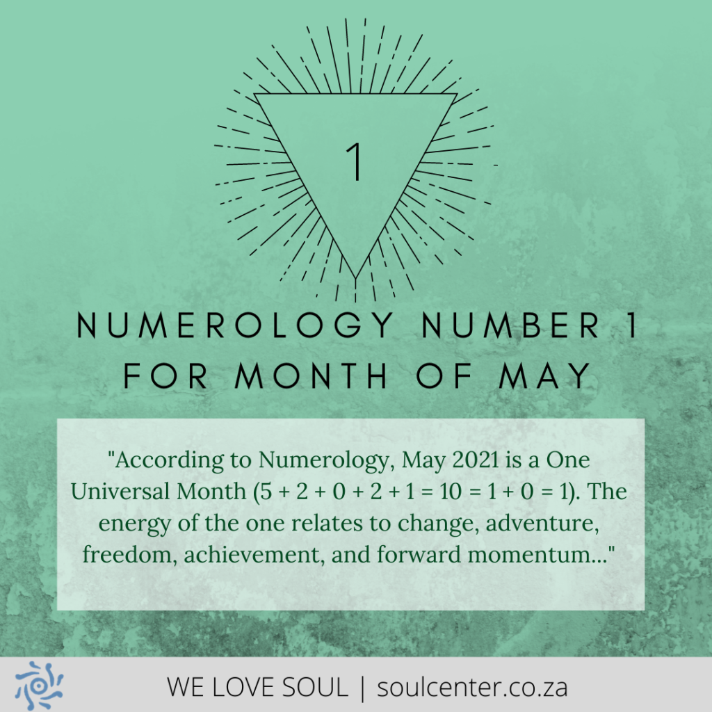The Numerology of May is One | soulcenter.co.za